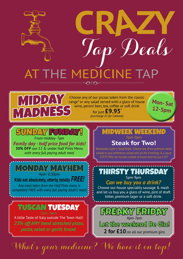 The finest fresh food from The Medicine Tap!