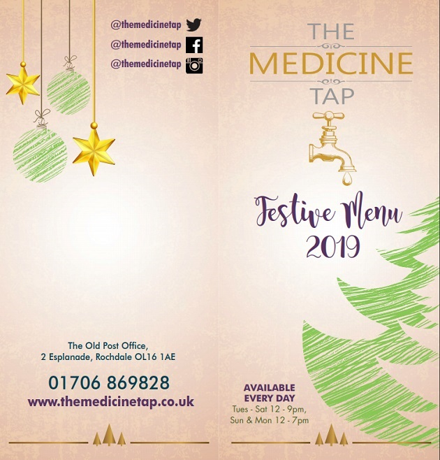 The Medicine Tap Christmas Menu!